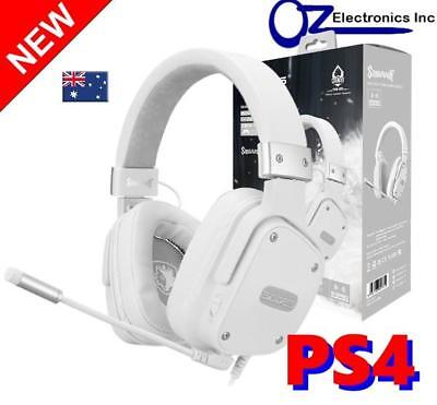 AU51 • Buy SADES SNOWWOLF PS4 Xbox One Nintendo SWITCH Gaming Headset Mic Chat Genuine