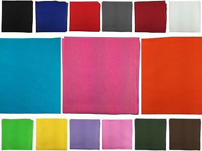AU3.95 • Buy Bandana Plain 100% Cotton Head Wrap Durag Biker Scarf Camping Face Mask