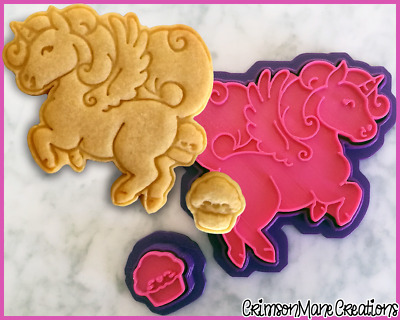 AU10 • Buy Unicorn Pooping Cupcakes Cookie Cutter Set Cute Baking Supply Ceramics Pottery
