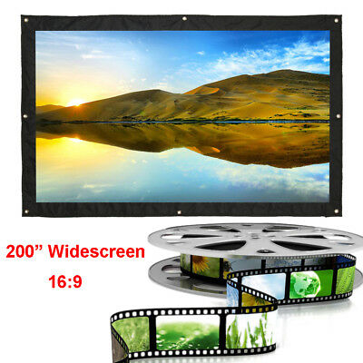 """AU152.27 • Buy 200"""" Inch Portable Tripod Projector Screen Conference Presentation HD Projection"""