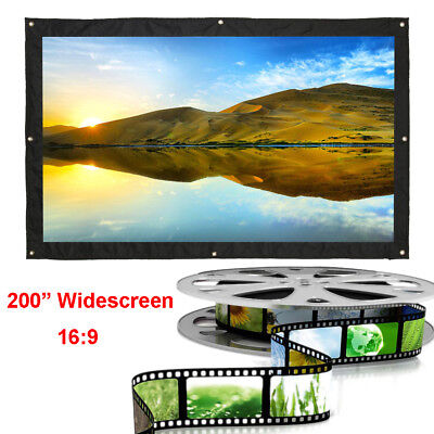 """AU185.99 • Buy 200"""" Inch Portable Tripod Projector Screen Conference Presentation HD Projection"""