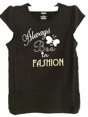 $14.99 • Buy Gymboree NWT BEE CHIC Always Bee In Fashion Black Tee Top Shirt Bling Gem 5 5T 6