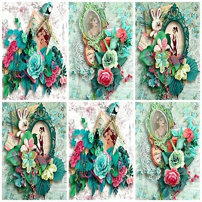 £2.90 • Buy SHABBY CHIC ART DECO  Embellishments (12), Card Making Toppers, Card Toppers