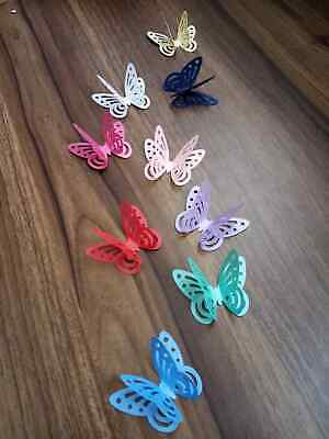 £1.99 • Buy 20 3d PEARLESCENT SHIMMER BUTTERFLY TABLE CONFETTI CRAFT TOPPER WALL DECORATION