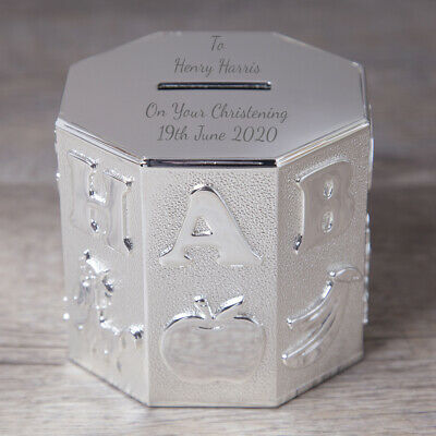 £16.99 • Buy Personalised ABC Money Box Girl For Boy Baby Christening Naming Day Gifts Ideas