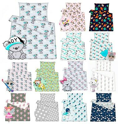 NEW Cotton Bedding Set For Baby Toddler Crib Cot Cot Bed Duvet Cover Pillowcase  • 12.59£