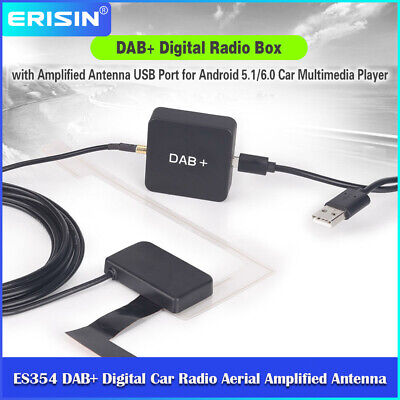 DAB+ Digital Radio Tuner Aerial Amplified Antenna For Android 6.0-10.0 Stereo • 30.79£