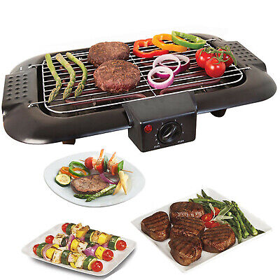 £23.94 • Buy Electric Table Top Grill BBQ Barbecue Garden Camping Cooking 2000W Indoor Or Out