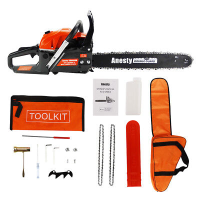 """View Details 2-Stroke 58CC Petrol Chainsaw Easy Start 20-inch E-Start Chain Saw 20"""" Tool Kit • 69.90£"""