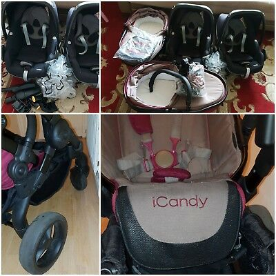 Icandy Peace 3 Blossom Twins Claret • 525£