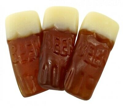 PINT POTS BEER BOTTLES 1KG BAG (approx 120) JELLY RETRO SWEETS • 8.75£