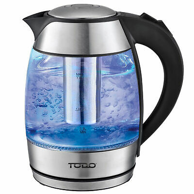 AU39 • Buy TODO 1.8L Glass Cordless Kettle Electric Blue Led Light Infuser Filter 360 Jug