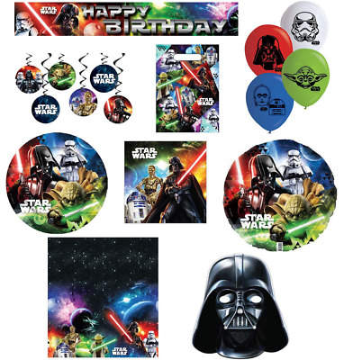 AU4.99 • Buy Star Wars Party Supplies Decorations Tableware Lolly Bags Favours Balloons Masks