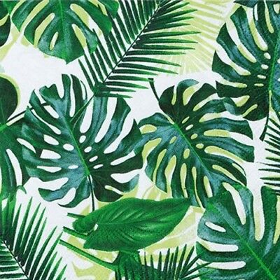Tropical Palm Leaf Paper Napkins Summer Luau Cocktail Party  • 3.50£