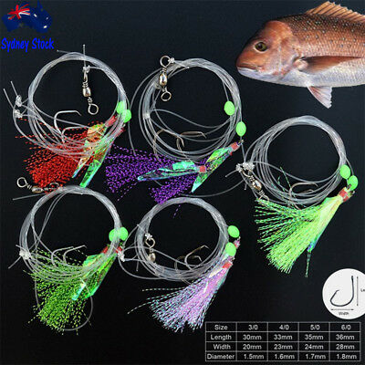 AU13.95 • Buy Snapper Snatchers Flasher Circle Hook Fishing Rigs Lumo Strikers 3/0 4/0 5/0 6/0