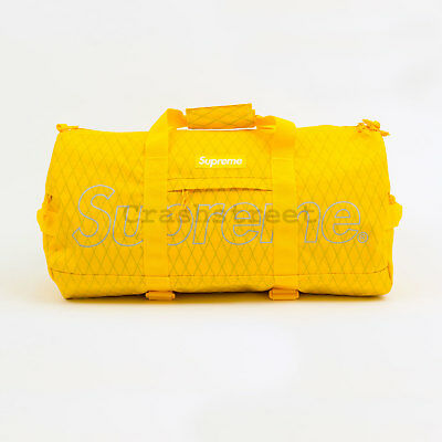 $ CDN359.27 • Buy Supreme FW18 Duffle Bag Box Camp Cap Tee Logo Shoulder Waist Backpack Yellow