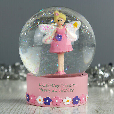 Personalised Message Christmas Snow Globe Pink Fairy Design - Girls, Daughter  • 13.99£