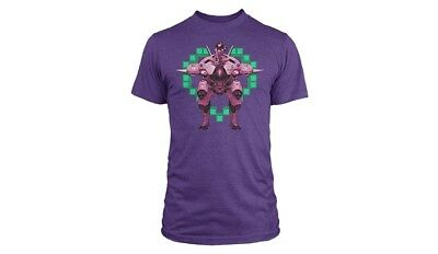 AU14.98 • Buy Overwatch Offical Merchandise- D.va Play To Win Purple Tee - Large
