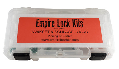 $ CDN30.24 • Buy Rekey Pin Kit For Kwikset And Schlage Locks Top And Bottom Pins And Springs