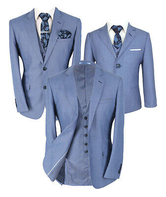 £159.99 • Buy Mens & Boys Matching Slim Fit Blue Jay Wedding Formal Matching Father & Son Suit
