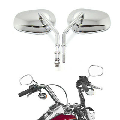$37.20 • Buy Chrome Motorcycle Parts-rear View Mirrors For Harley Sportster 1200 883 Softail