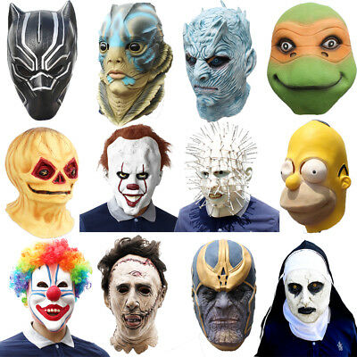 Latex Fancy Animals Head Party Props Cosplay Masquerade Carnival Costume Masks • 14.99£