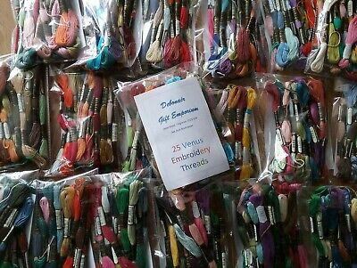 £5 • Buy 25 Venus Stranded Skeins Embroidery Thread - Great Quality & Value