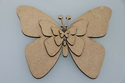 Wooden MDF Shapes Butterfly Bunting Craft Embellishments Wedding Xmas Decoration • 2.21£