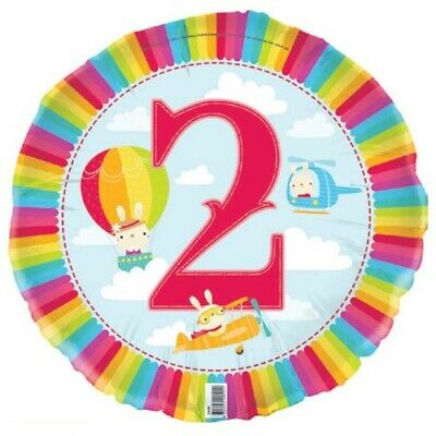 AU4.99 • Buy 2nd Birthday Party Decorations Foil Balloon 45cm 18  Sky Cloud Supplies  E2189