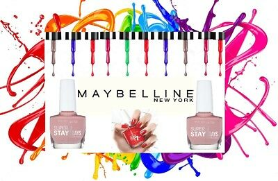 Gel Nail Color Maybelline SuperStay 7 Days Nail Polish Varnish BUY 5 GET 3 FREE  • 3.50£