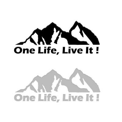 $0.99 • Buy ONE LIFE LIVE IT ! Off Road Mountain Silhouette Car Sticker Window Decals New