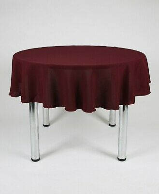 Small Round Fabric TABLECLOTH COVER Over Locked Using Top Quality Cotton Thread • 13.99£