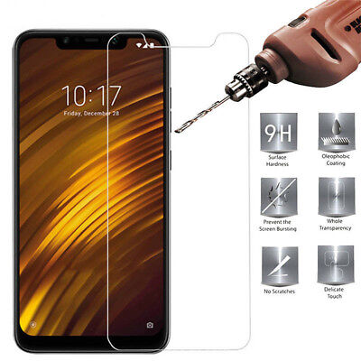 AU3.01 • Buy For Xiaomi Pocophone F1 Tempered Glass Screen Protector For Xiaomi Poco F1