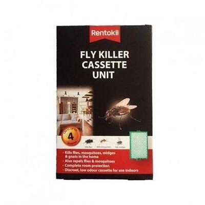 1 X Rentokil Fly Killer Cassette Unit Kills Flies Mosquitoes Moth Midges Insect • 3.98£