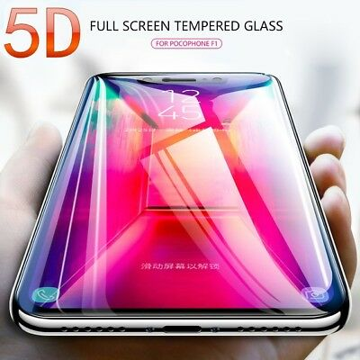 AU4.02 • Buy 5D For Xiaomi Pocophone F1 Screen Protector Full Coverage Tempered Glass On Poco