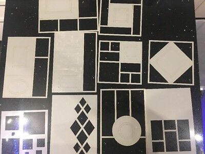 Selection Of Decorative Stencils And Masks Mixed Brands Geometric Shapes • 25£