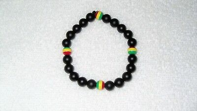 $10.25 • Buy Rasta Beads Color Bracelet Jewelry Rastafari Stretch Rastafarian Music Religion