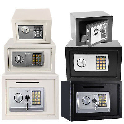 Mini Electronic Password Security Safe Money Cash Deposit Box Office Home Safety • 19.98£