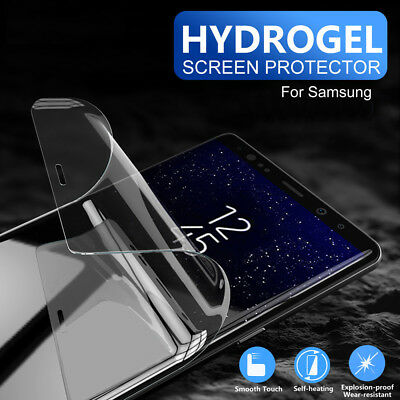 AU2.95 • Buy For Samsung Galaxy S9 S8 S10 Plus Note 8 9 HYDROGEL Full Cover Screen Protector