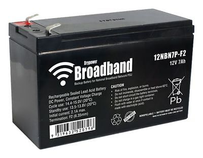 AU29.50 • Buy NBN Replacement Drypower Boardband Battery- 12 Volt 7 Amp