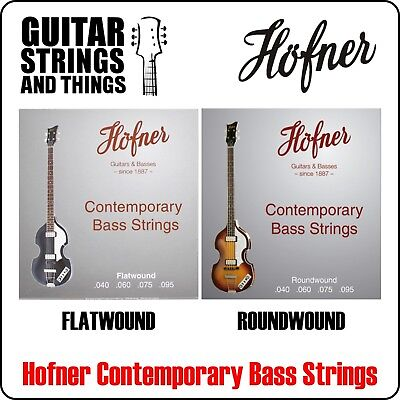 $ CDN39.74 • Buy Hofner Contemporary FLATWOUND Or ROUNDWOUND 40-95 Or NYLON Bass Guitar Strings