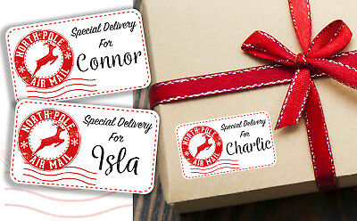 £1.95 • Buy Personalised Christmas Present Stickers Gift Labels Special Delivery From Santa