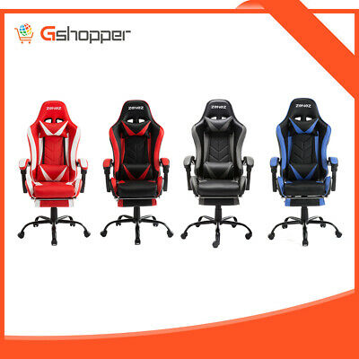 AU142.99 • Buy ZENEZ Gaming Chair Office Computer Racing PU Leather Executive Footrest