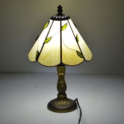 Stained Glass Lampshade Tiffany Table Lamp Fresh Country Bedside Table Luminaire • 80.79£
