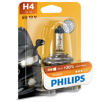AU19.93 • Buy Philips Vision H4 Car Headlight Bulb (Single)