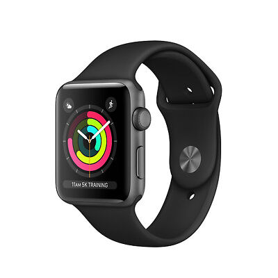 $ CDN270.99 • Buy Apple Watch Series 3 38mm/42mm Sports Band Choice Of Colors GPS Only