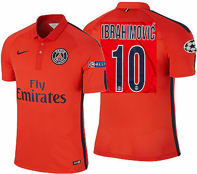 AU454.16 • Buy Nike Ibrahimovic Paris Saint-germain Psg Authentic Third Match Jersey 2014/15