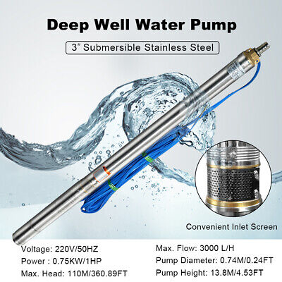 1 hp submersible pump
