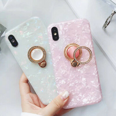 AU4.69 • Buy For IPhone X Xr Xs Max 6 6S 7 8 Phone Case Crystal Ring Holder Shell Soft Cover