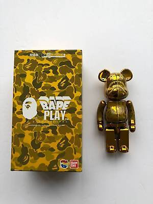 $299 • Buy A BATHING APE BAPE X  MEDICOM TOY Chogokin BE@RBRICK 200%, BEARBRICK GOLD BAPE